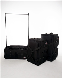 Rac N Roll Black Expandable Dance Bag With Rack Large