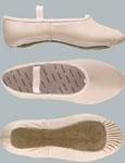 Medium Width Wear Moi Salmon Leather Ballet Shoes WM504 Full Sole